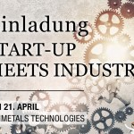 Start-up meets industry, 21. April 2016